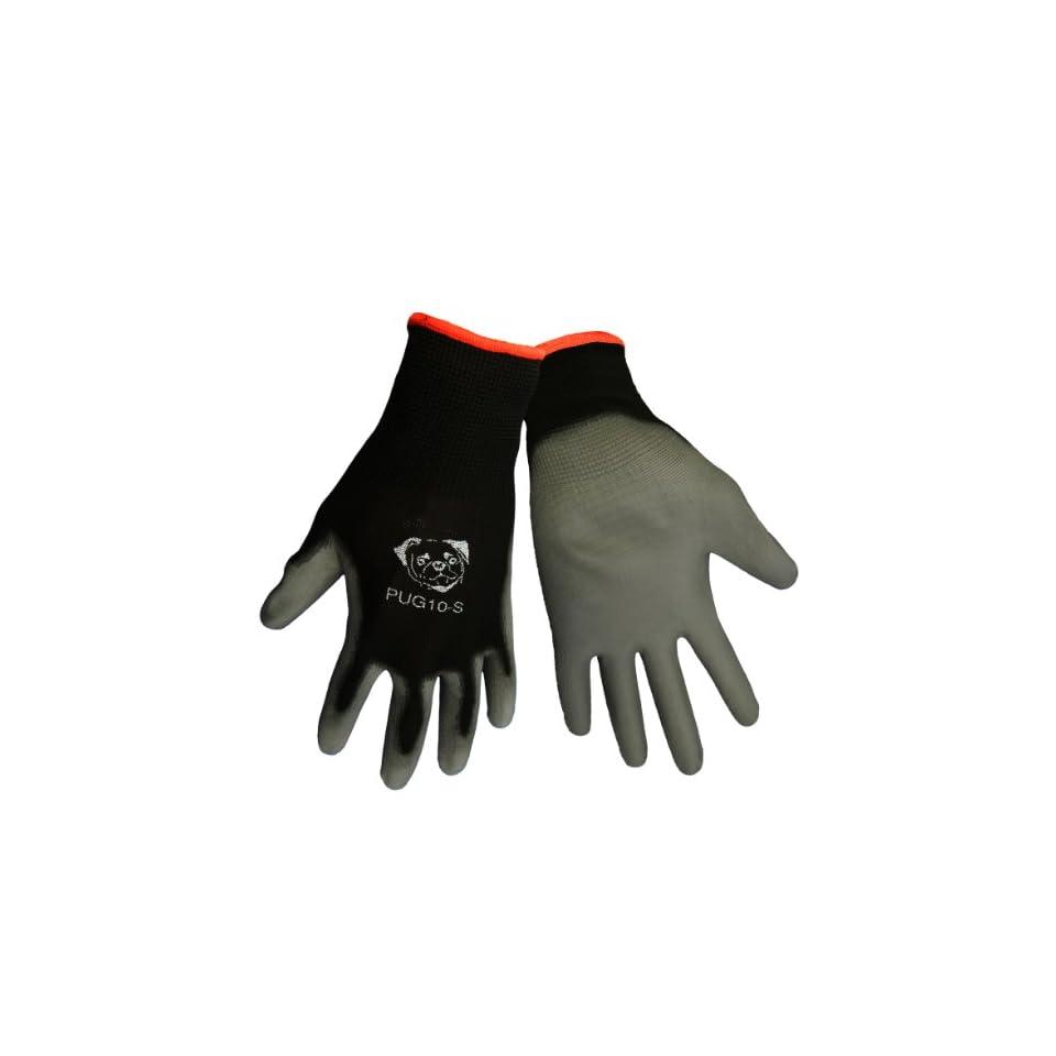 Global Glove PUG10 Economy Grade Polyurethane/Polyester Glove, Work, Small, Gray/Black (Case of 144)