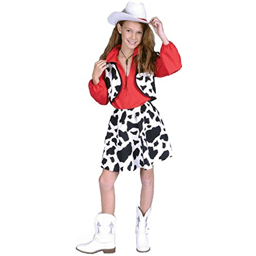 Child's Western Cowgirl Halloween Costume (Size: Small 4-6)