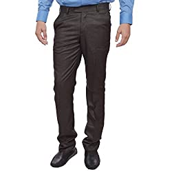 Sangam Apparels Slim Fit Mens Brown Formal Trousers