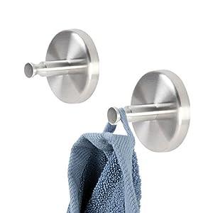 Bad-Serie Piazza - Handtuchhaken 2er, aus hochwertigem Edelstahl, Wandmontage