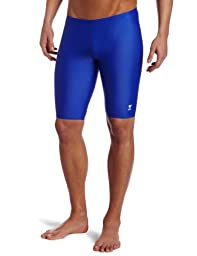 TYR Sport Men's Solid Jammer Swim Suit,Royal,30