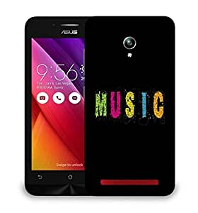 Snoogg Music Designer Protective Phone Back Case Cover For Asus Zenfone GO