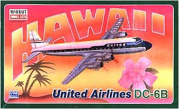 Buy DC-6B United Airlines 1-144 by Minicraft