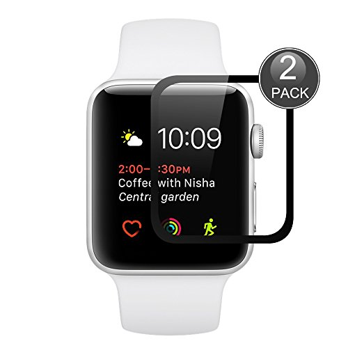 Apple Watch 38mm Screen Protector Tempered Glass [2 Pack], VIFLYKOO Scratch Proof High Definition HD Ultra Clear Thin Screen Protective Glass for Apple Watch Series 2/1/Apple Watch Nike+