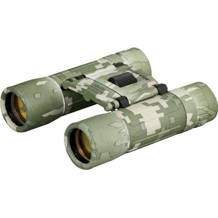 HUMVEE HMV-B-10X25-DC Rubber Armor Compact Binocular with Anti-Reflective Emerald Green Lens, 10x25, Digital Camouflage