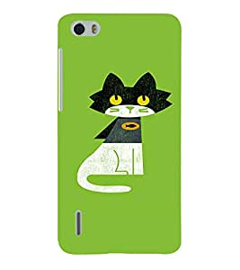 EPICCASE Super Cat Mobile Back Case Cover For Huawei Honor 6 (Designer Case)