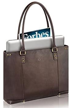 "Solo Premium Leather 15.6"" Laptop Carryall, Espresso, VTA801-3 2"