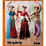 Simplicity Pattern 3832 ~ The Dance Studio Belly Dance Costumes, Size HH (6-8-10-12)