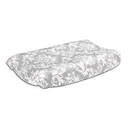 Grey Damask 100% Cotton Changing Pad Cover by The Peanut Shell