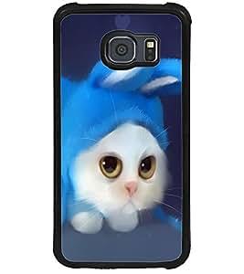 ColourCraft Cute Cat Design Back Case Cover for SAMSUNG GALAXY S6