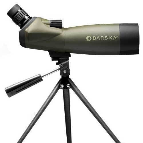 BARSKA Blackhawk 20-60x60 Angled Spotting Scope with Tripod, Soft Carrying Case And Premium Hard Case
