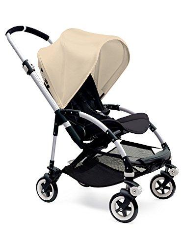 Bugaboo Bee3 Stroller - Off White - Black - Aluminum