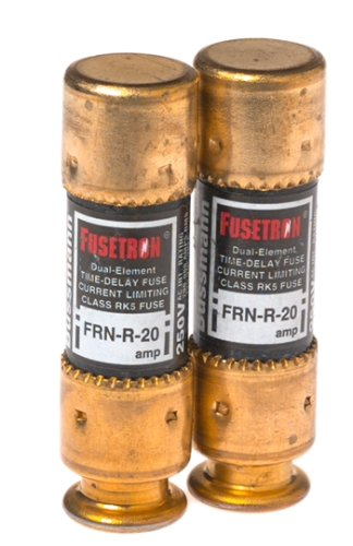 Bussmann Bp/Frn-R-20 20 Amp Fusetron Dual Element Time-Delay Current Limiting Class Rk5 Fuse, 250V Carded Ul Listed, 2-Pack