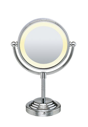 Conair BE4RLZ Classique Double-Sided Lighted Makeup Mirror with 5x Magnification