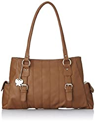 Butterflies Women's Handbag (Tan) (BNS 0406 TN)