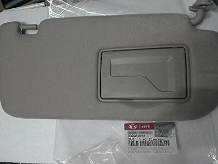 Kia Motors OEM Genuine 852022G010QW Factory Front Passenger Right Inside Sun Visor 1-pc Gray