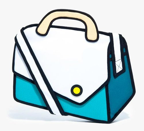 Fashion Design Mixed Color 3D Cartoon Bag Creative Messenger Bag (Blue)