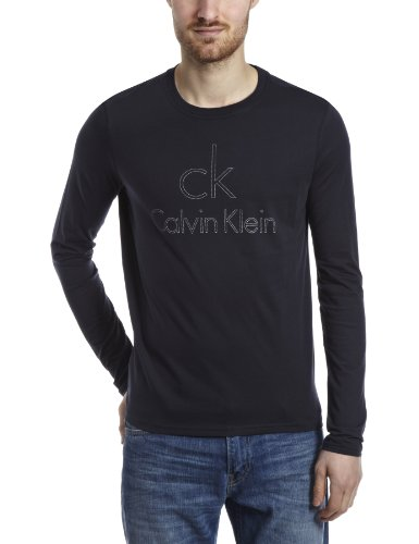 Calvin Klein CK Long Sleeve Logo Original Icon Logo Mens T-Shirt