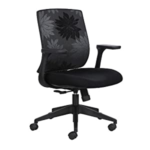 Safco Products Bliss Mid Back Management Chair, Black, 7202BL1