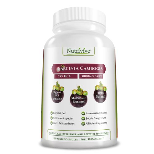 On Sale Now! Regular 27.95! Try It Now And See Results! Pure Garcinia Cambogia 75% Hca, All Natural Appetite Suppressant And Weight Loss Formula, Highest Hca Available,180 Capsules 3000Mg Daily-Full Dosage As Recommended By Leading Weight Loss Experts, Ea