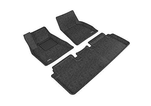 3D MAXpider L1TL00002209 Complete Set Custom Fit Floor Mat for Select Tesla Model S Models - Classic Carpet (Black) (Tesla Model S Floor Mat compare prices)