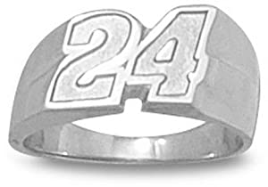 Logoart Jeff Gordon Sterling Silver Ring, Size 6 by Logo Art