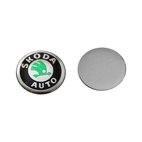Bross BDP538 2 Pieces Car Key Logo Auto Emblems Dia:1.4cm Car Styling Sticker for Skoda Octavia A7 A5 Rapid Yeti Fabia Superb (Auto Parts Skoda Octavia compare prices)