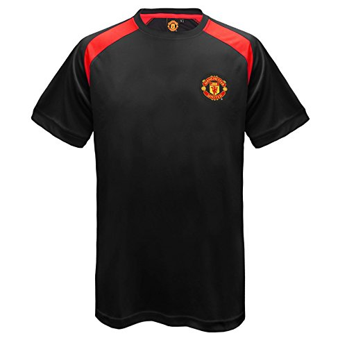 manchester-united-fc-official-gift-mens-poly-training-kit-t-shirt-black-large