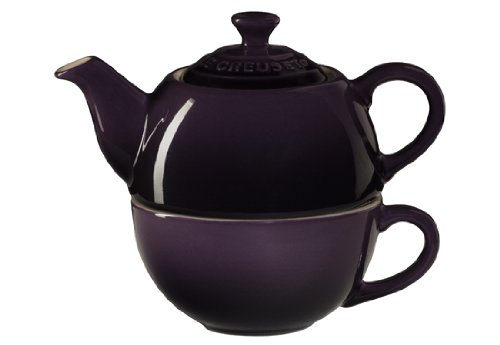 Le Creuset Stoneware Tea Cup For 1, Cassis