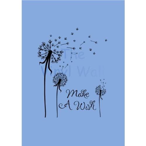 Make a Wish Dandelion Flower Wall Art Decor Decal Sticker Extra Large 23w X 30t