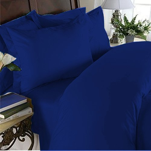 "Elegant Comfort ® 1500 Thread Count Luxurious 100% Manufacturer Guaranteed Ultra Soft 3 Pc Sheet Set, Deep Pocket Up To 16"" - Wrinkle Resistant , Twin/Twin Xl Royal Blue front-944010"