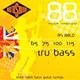 Rotosound RS88M Black Nylon Flatwound Medium Bass Guitar Strings (65 75 90 115)