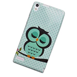 Voguecase® Schutzhülle / Case / Cover / Hülle / TPU Gel Skin für Huawei Ascend P6 (schlafende Eule) + Gratis Universal Eingabestift