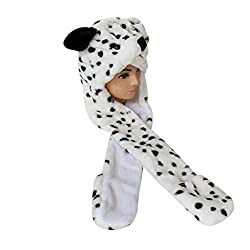 Light Year Fluffy Animal Dog Toddler Boys Christmas Costumes Hats Cap With Scarf