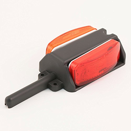 Lumitronics Pre-Wired Right Fender Clearance Trailer Light Assembly - Amber/Red (Fenders Trailer compare prices)