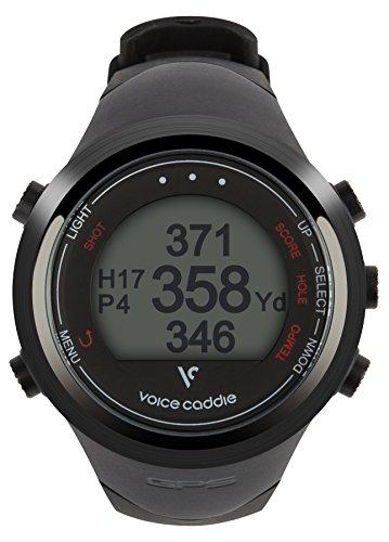 Voice Caddie T-1 Hybrid Golf Watch, Black