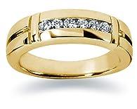 0.28 ctw. Men's Round Diamond Wedding Band in 18K Yellow Gold