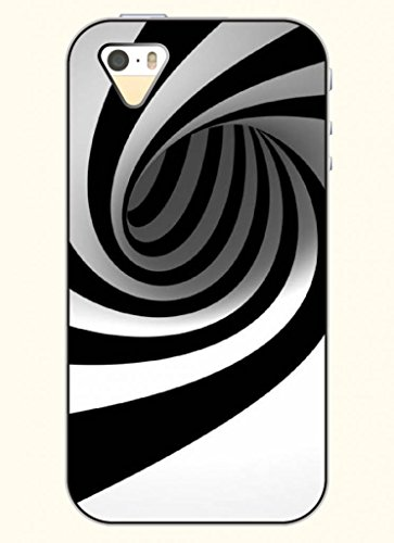 Oofit Phone Case Design With Black And White Whirlpool For Apple Iphone 4 4S 4G front-408815