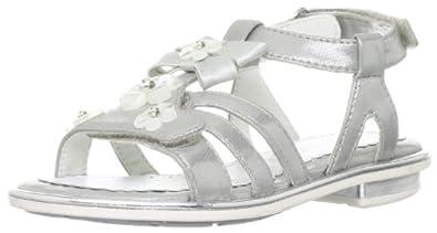 Geox J Sand.giglio H Silver Formal Sandal J32E2H000BJC1007 1 UK Junior, 33 EU