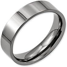 Bridal Titanium Flat 6mm Polished Band