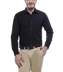 English Navy Men's Formal Shirt(2001Black44_Black_44)