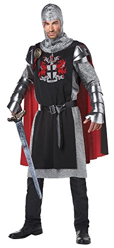 California Costumes Men's Renaissance Medieval Knight Ren Faire Costume, Black/Red, Large/X-Large