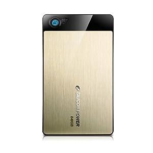 Silicon Power Armor A50 Portable 640 GB USB 2.0 External Hard Drive SP640GBPHDA50S2G (Gold)