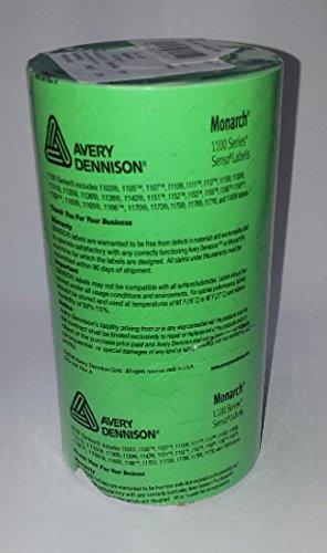 Monarch 1107 Étiquettes de prix en forme de pistolet 16 000 étiquettes Rouleaux permanente Vert