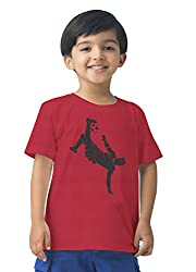 Mintees 100% Combed Cotton Boy's Graphic Print T. Red Colour Tshirt MBRNT05-005_8-9Yrs