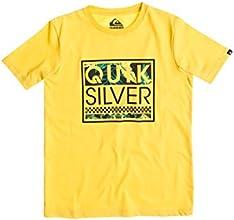 Quiksilver Classic T-Shirt manches courtes Garçon Lemon Zest FR : 12 ans (Taille Fabricant : M/12)