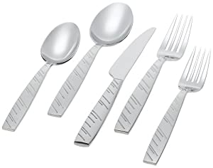 Ginkgo International Driven Rain 20-Piece Stainless Steel Flatware Set, Service for 4