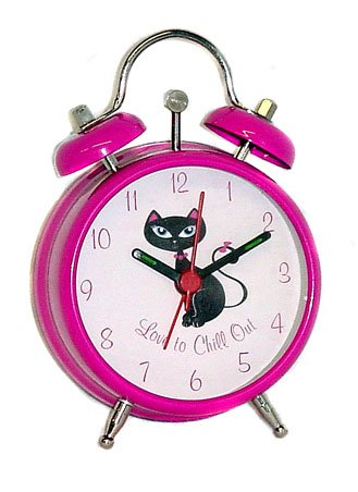 Kitty Cat Twin Bell Alarm Clock