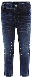 Fs Mini Klub Girls' Regular Fit Trousers (88Tgbfb0401 Dk Wash_8-2 - 3 Years, Blue, 2 - 3 Years)