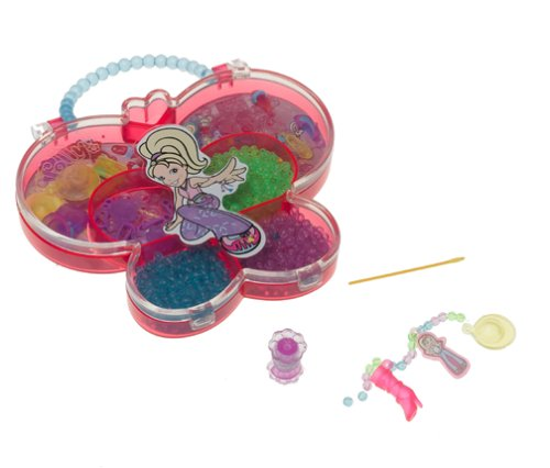 Polly Pocket Totally Bead-iful Jewelry Kit Playset Simply Charming